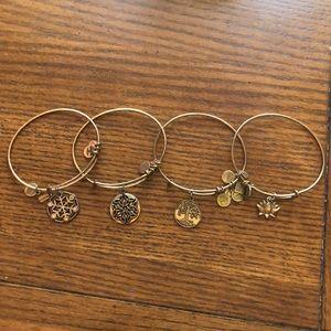 Alex and Ani bracelets (4)